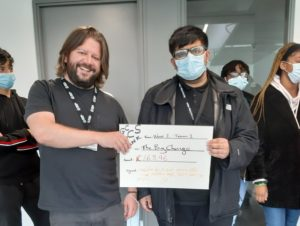 NCS Presenting Big Change with a Cheque